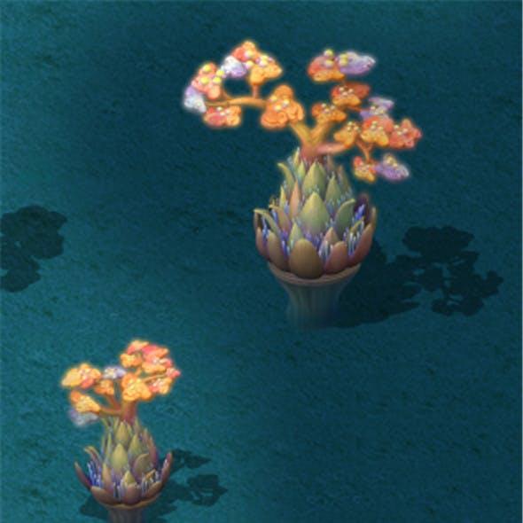 Submarine Cartoon World - Coral Salad Tree
