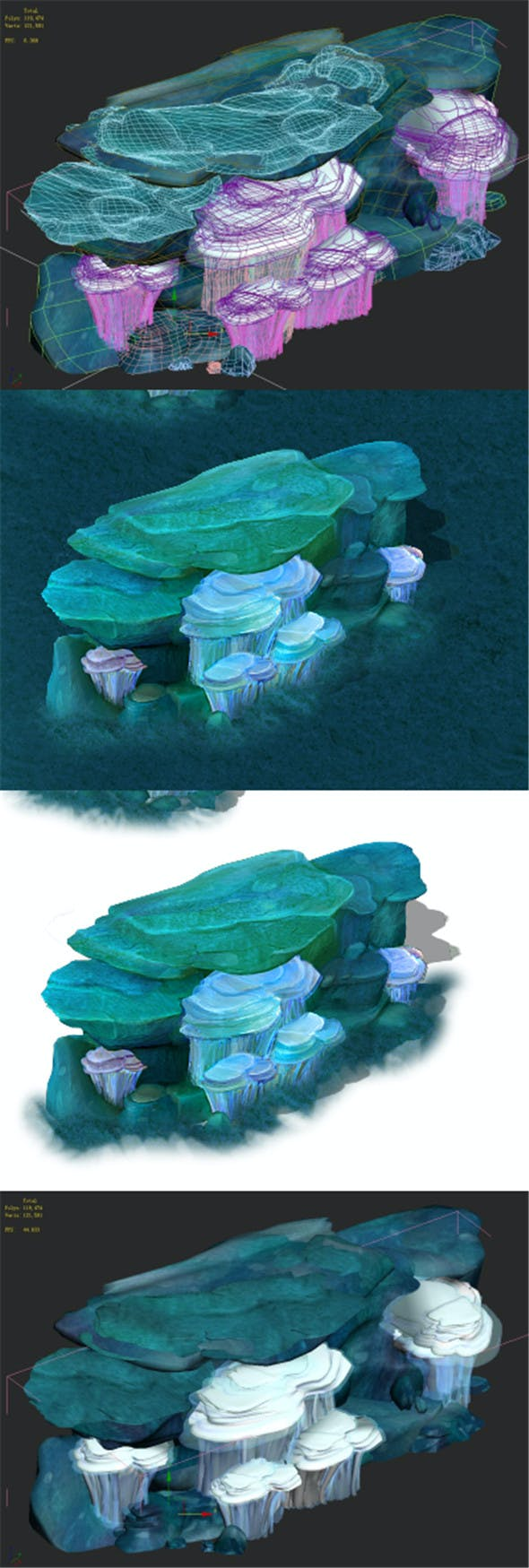 Submarine Cartoon World - Coralstone 03 - 3DOcean Item for Sale