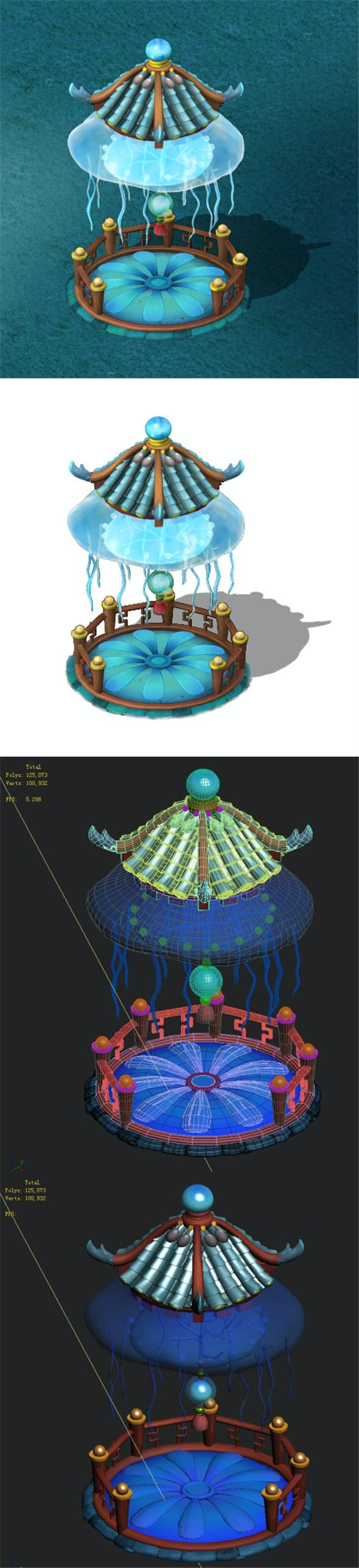 Submarine cartoon world - jellyfish pavilion - 3DOcean Item for Sale