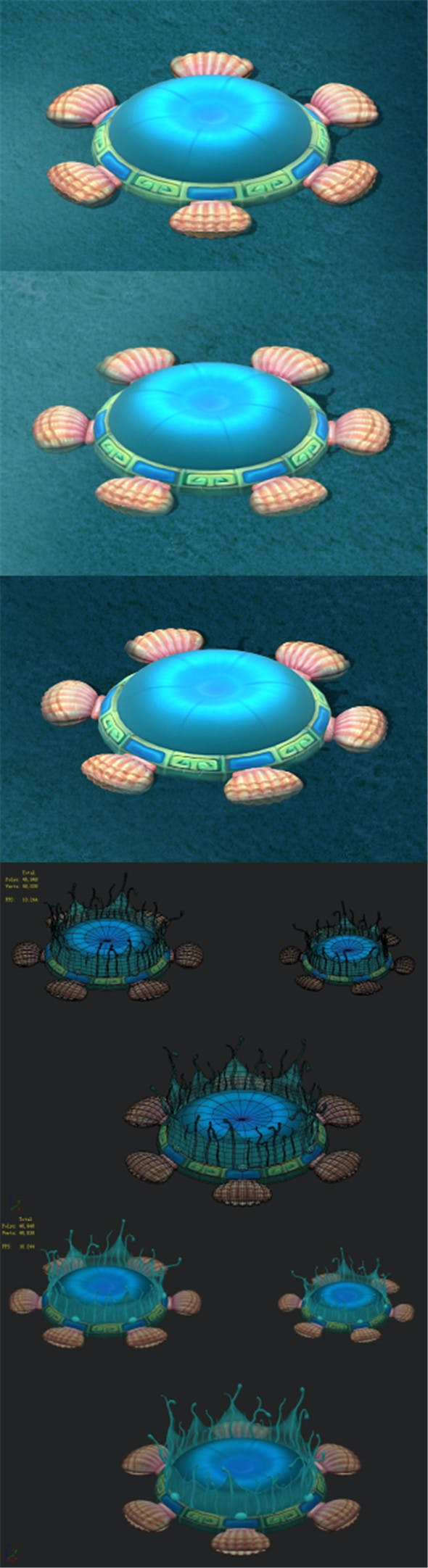 Submarine cartoon world - water element of the nest - 3DOcean Item for Sale