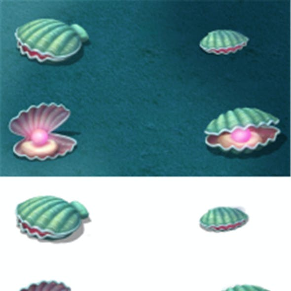 Submarine cartoon world - watermelon pearl shells