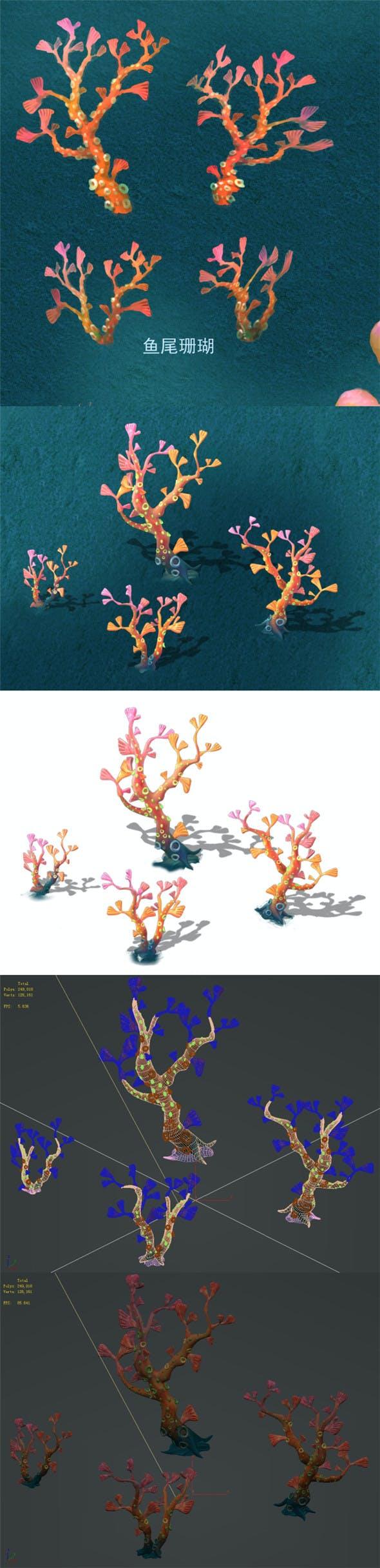 Submarine Cartoon World - Fishtail Coral - 3DOcean Item for Sale