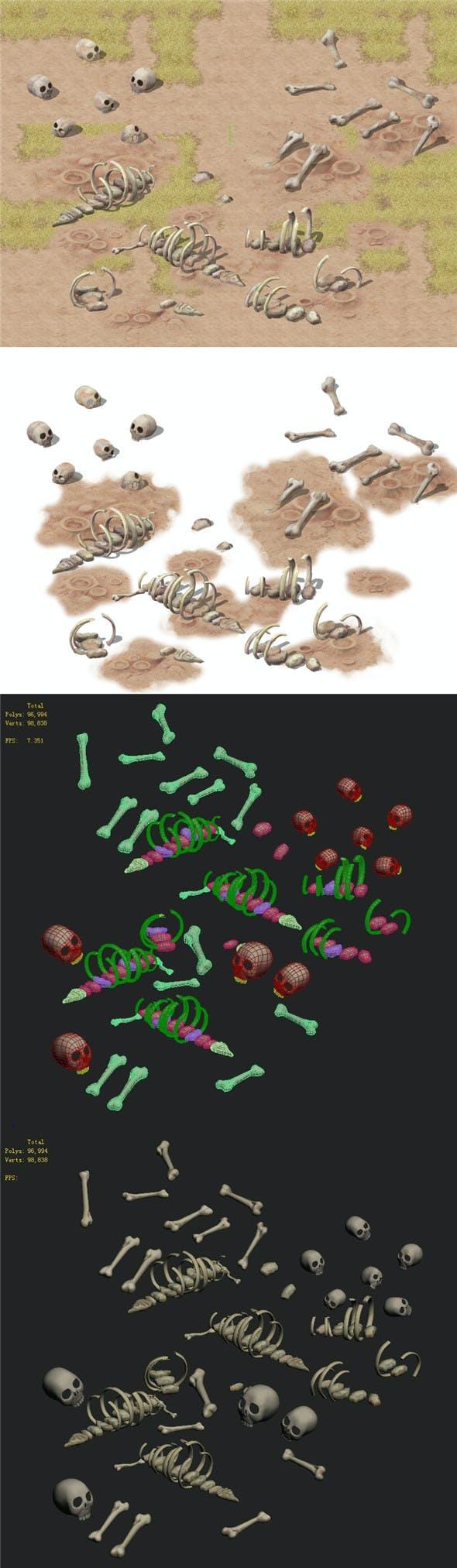 Cartoon version - bones - 3DOcean Item for Sale