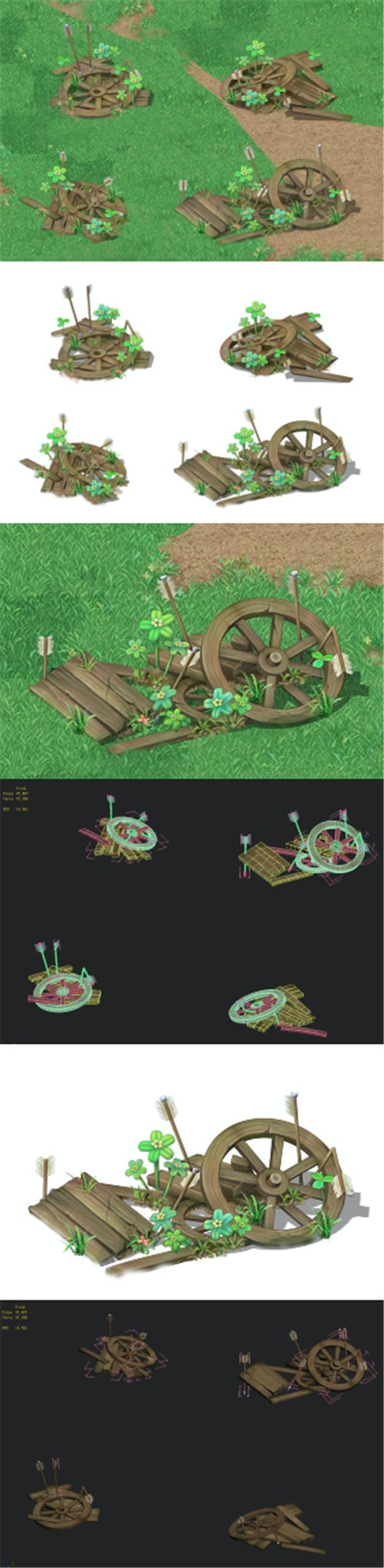 Cartoon version - broken wheels - 3DOcean Item for Sale
