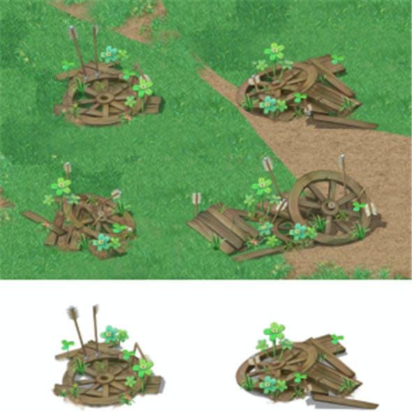 Cartoon version - broken wheels