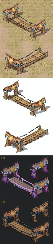 Cartoon version - spring cousin child bridge - 3DOcean Item for Sale
