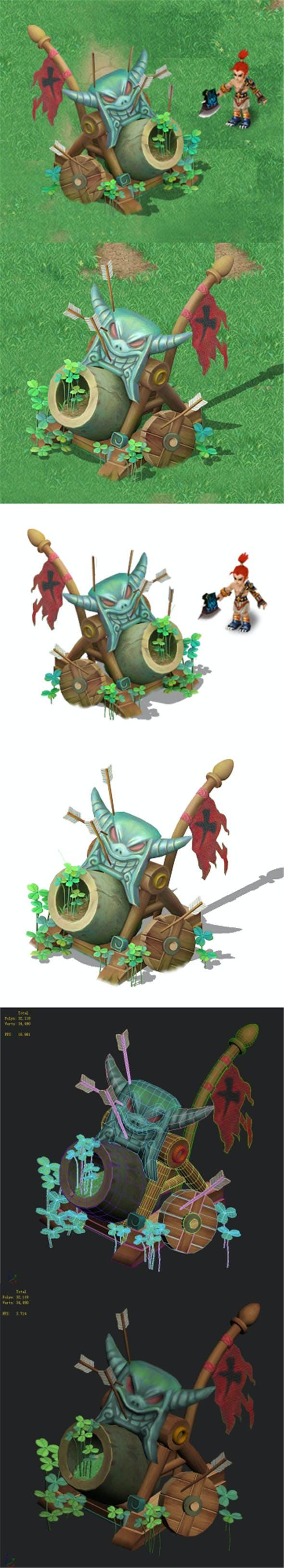 Cartoon version - Wind magic cannon - 3DOcean Item for Sale