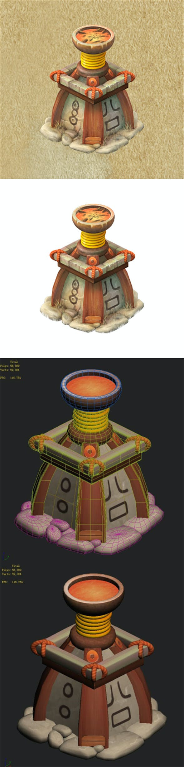 Cartoon version - God lamp - 3DOcean Item for Sale