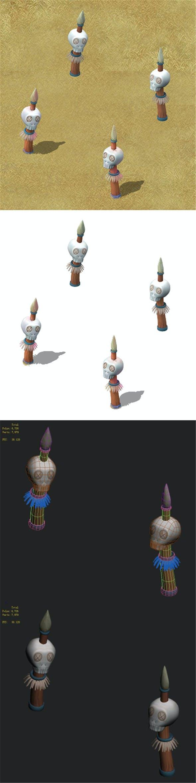 Cartoon version - skeleton stakes - 3DOcean Item for Sale