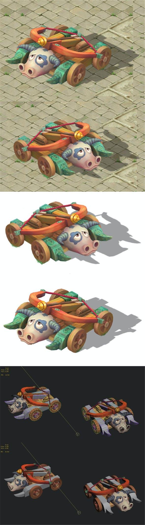 Cartoon version - Taurus crossbow car - 3DOcean Item for Sale