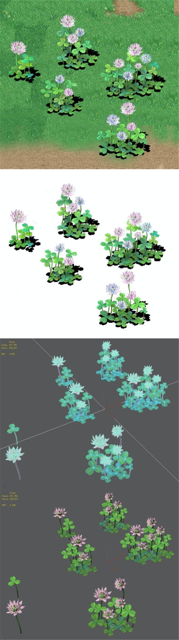 Cartoon version - clover - 3DOcean Item for Sale