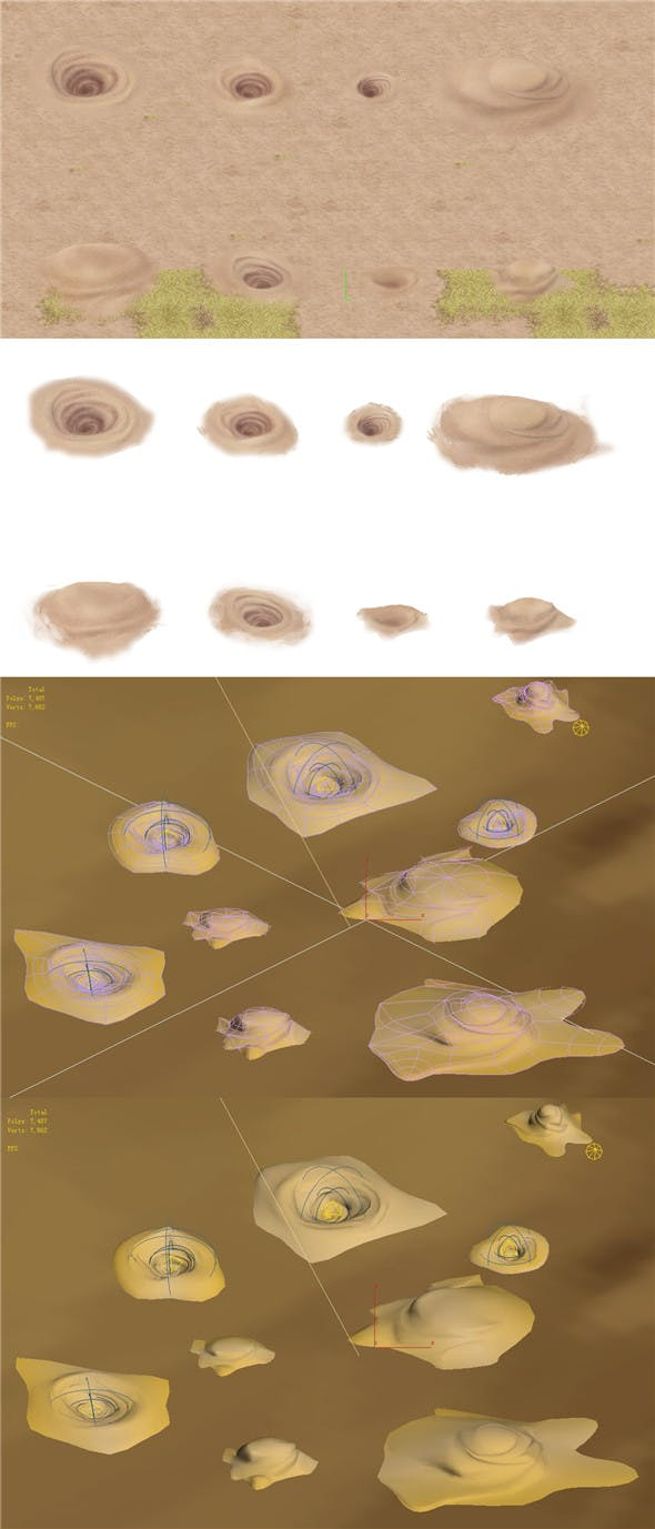 Cartoon version - desert whirlpool - 3DOcean Item for Sale
