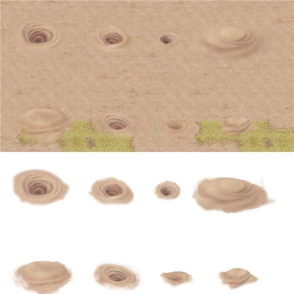 Cartoon version - desert whirlpool