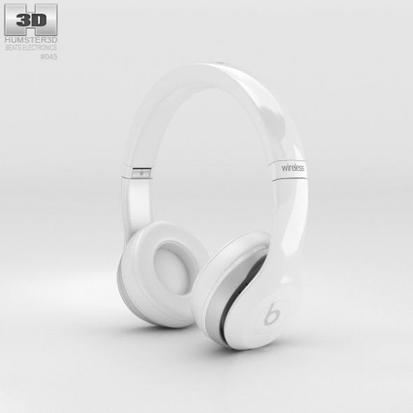 Beats by Dr. Dre Solo2 Wireless Headphones White - 3DOcean Item for Sale
