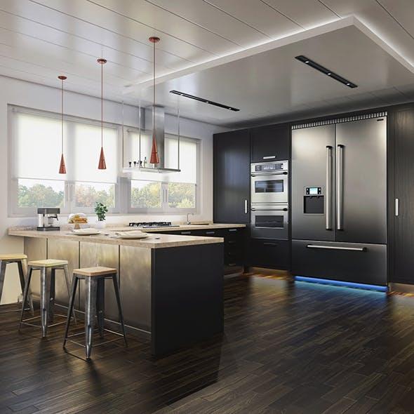 Vray Kitchen Interior