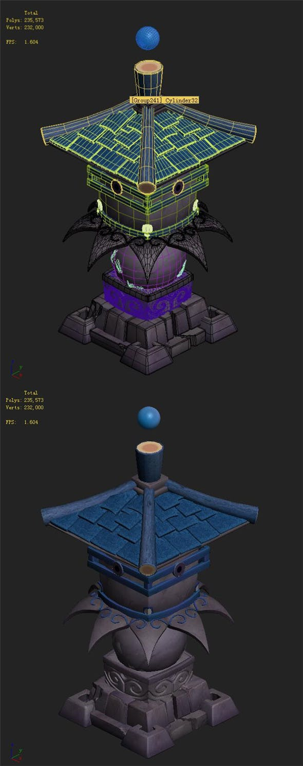 Cartoon hell - wail abyss - small tower - 3DOcean Item for Sale