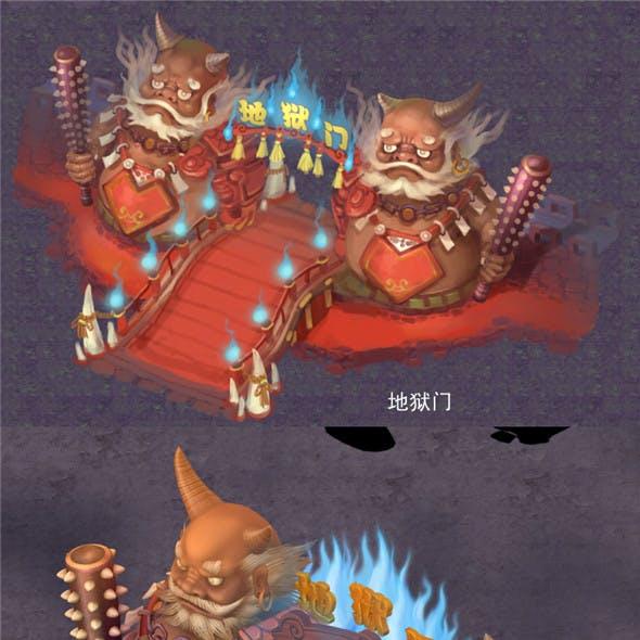 Cartoon hell - hell gate