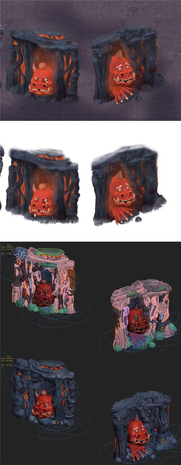 Cartoon hell - hide and seek the fool - 3DOcean Item for Sale