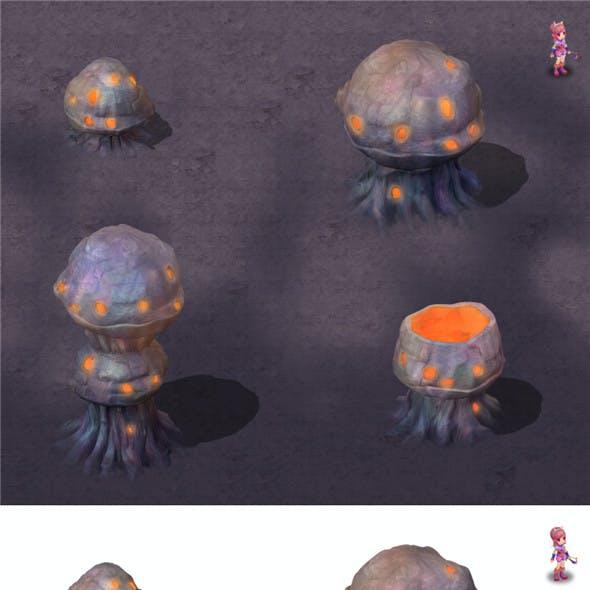 Cartoon hell - honeycomb stone