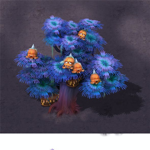 Cartoon hell - ghost coffin tree 03