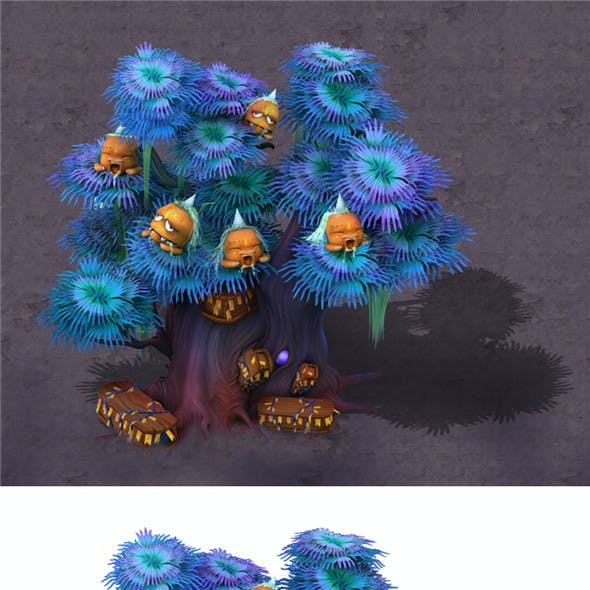Cartoon hell - ghost coffin tree 04