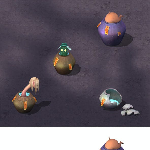 Cartoon hell - ghost urn