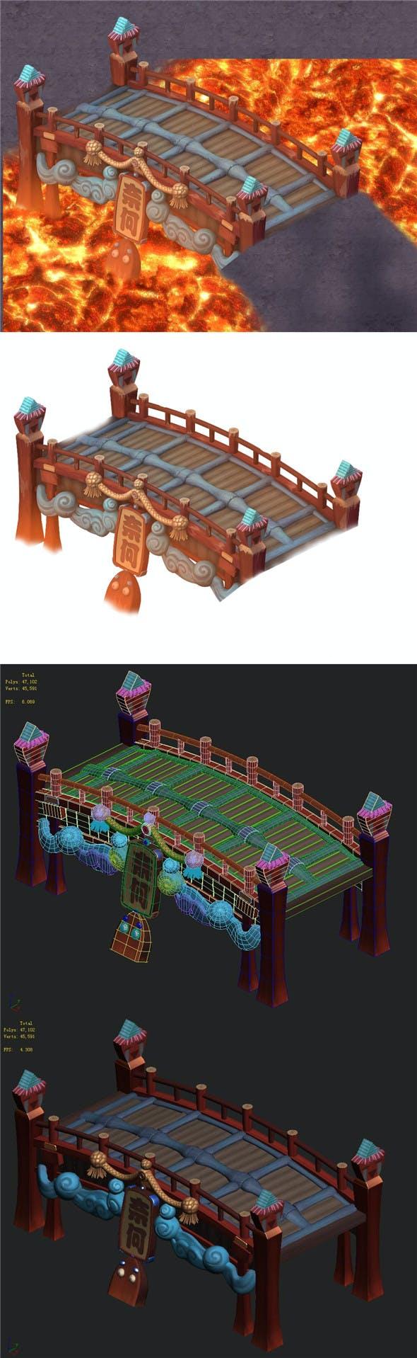 Cartoon hell - no one bridge - 3DOcean Item for Sale
