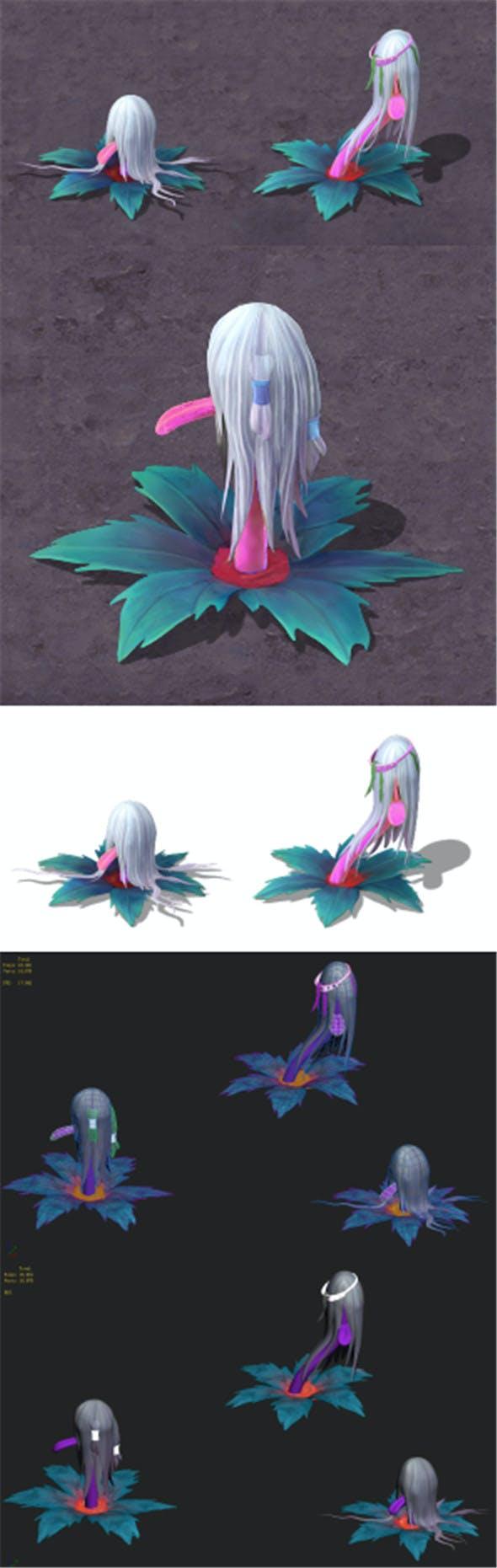 Cartoon hell - water ghost lantern - 3DOcean Item for Sale