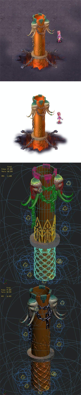 Cartoon hell - iron pillar - 3DOcean Item for Sale