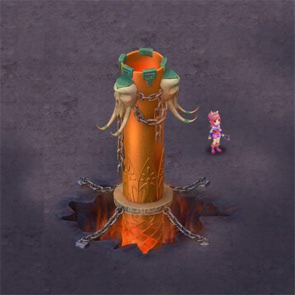 Cartoon hell - iron pillar