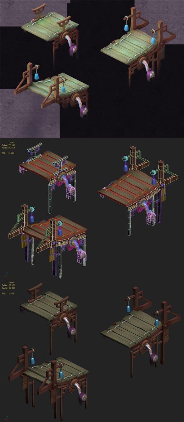 Cartoon hell - Hard burst bridge - 3DOcean Item for Sale