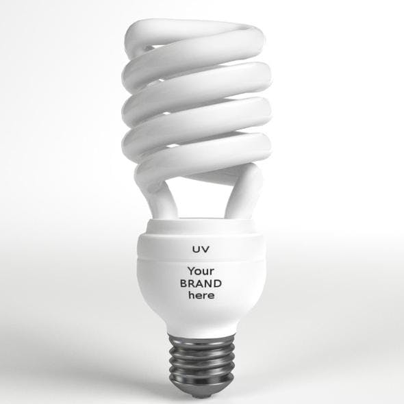 GE-style Fluorescent Light Bulb - 3DOcean Item for Sale