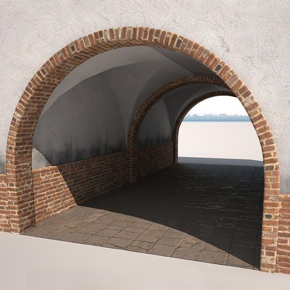 Building Gateway Low Poly - 3DOcean Item for Sale