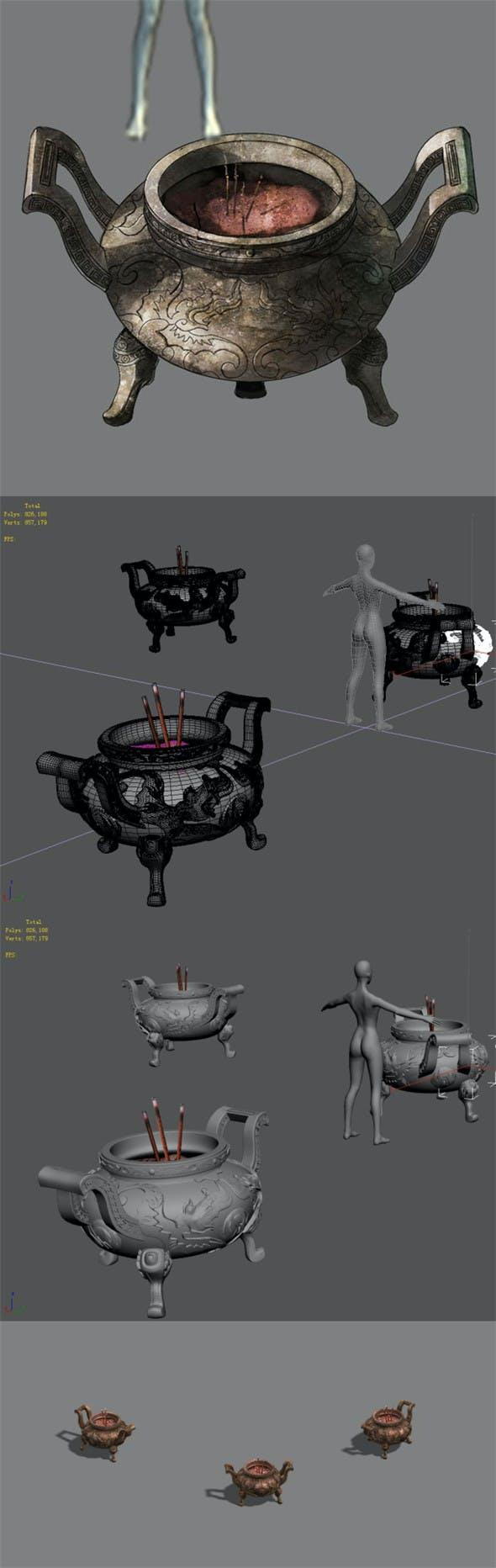 Incense burner 01 - 3DOcean Item for Sale