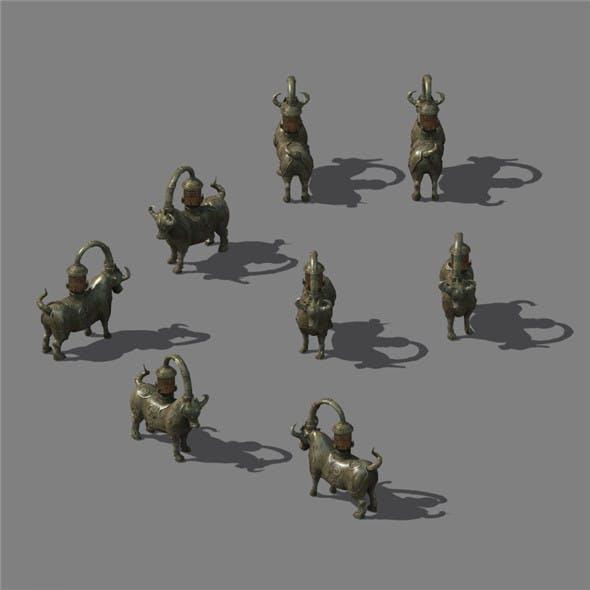 War camp - bronze sculpture
