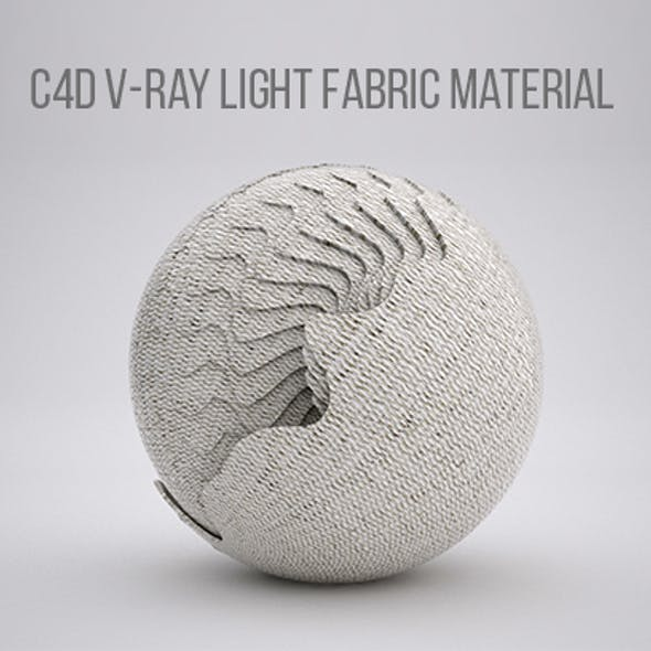 C4D V-RAY LIGHT FABRIC MATERIAL