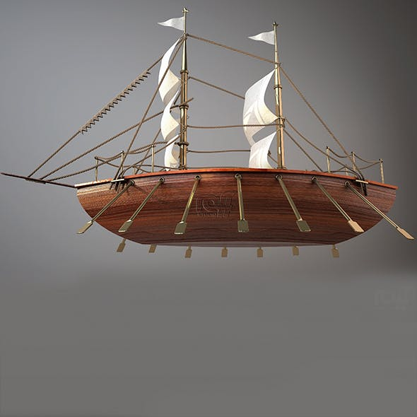 decorative wooden boat - 3DOcean Item for Sale