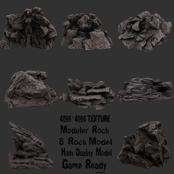 rock set - 3DOcean Item for Sale
