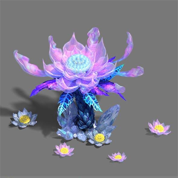 Ice and snow - snow lotus