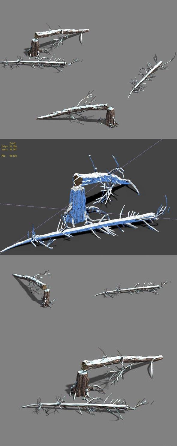 Ice and Snow - Cedar 04 - 3DOcean Item for Sale