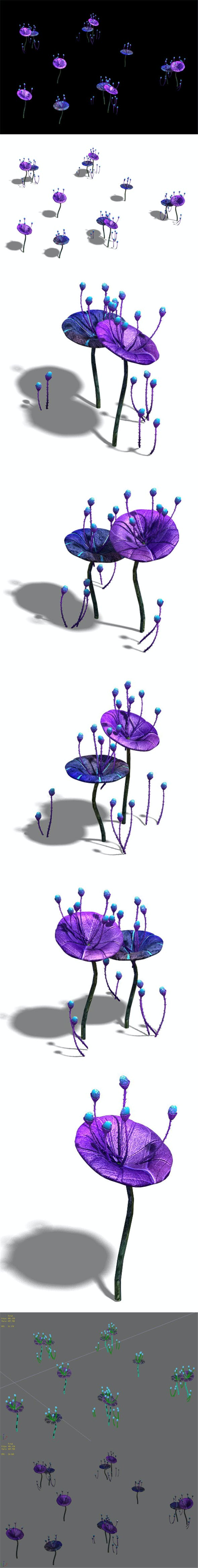 Wizard Forest - Supernatural Flowers 05 - 3DOcean Item for Sale