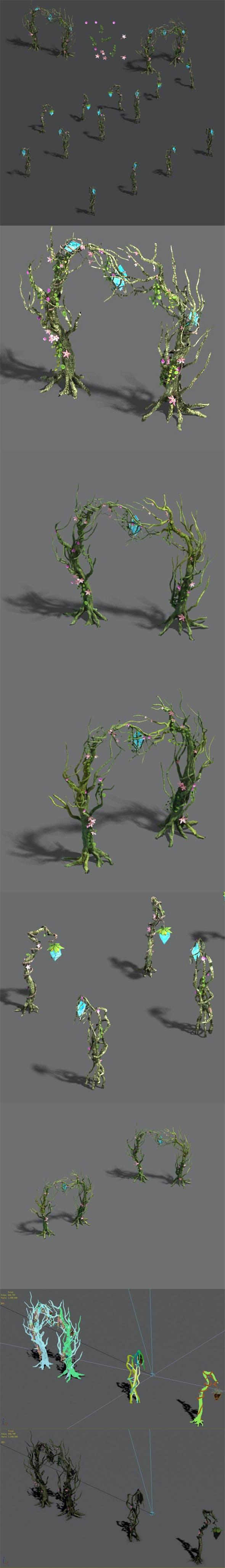 Wizard forest - tree door - tree light - 3DOcean Item for Sale