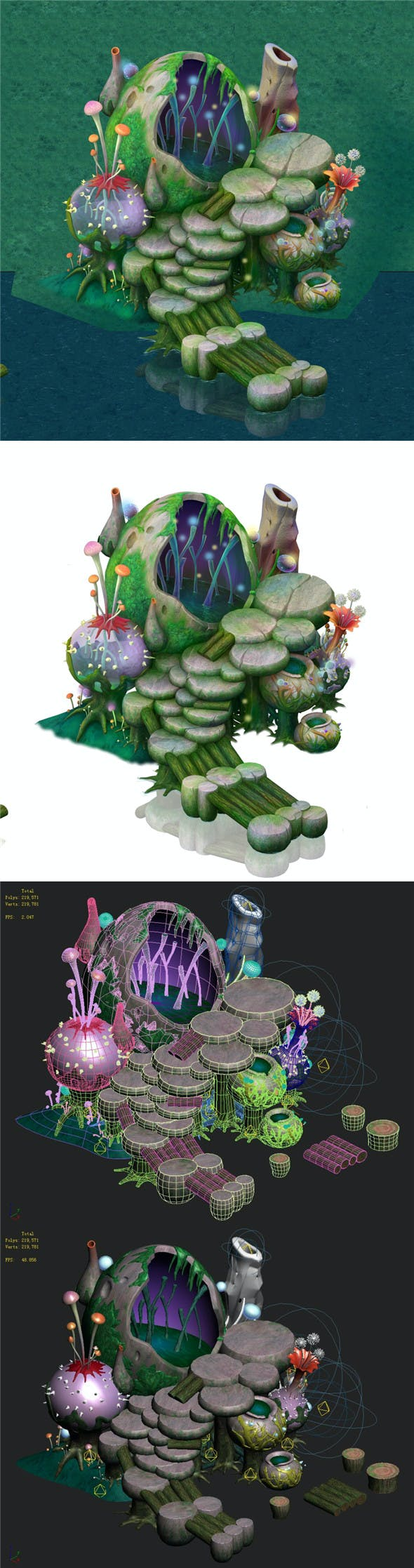 Cartoon version - spore purgatory - 3DOcean Item for Sale
