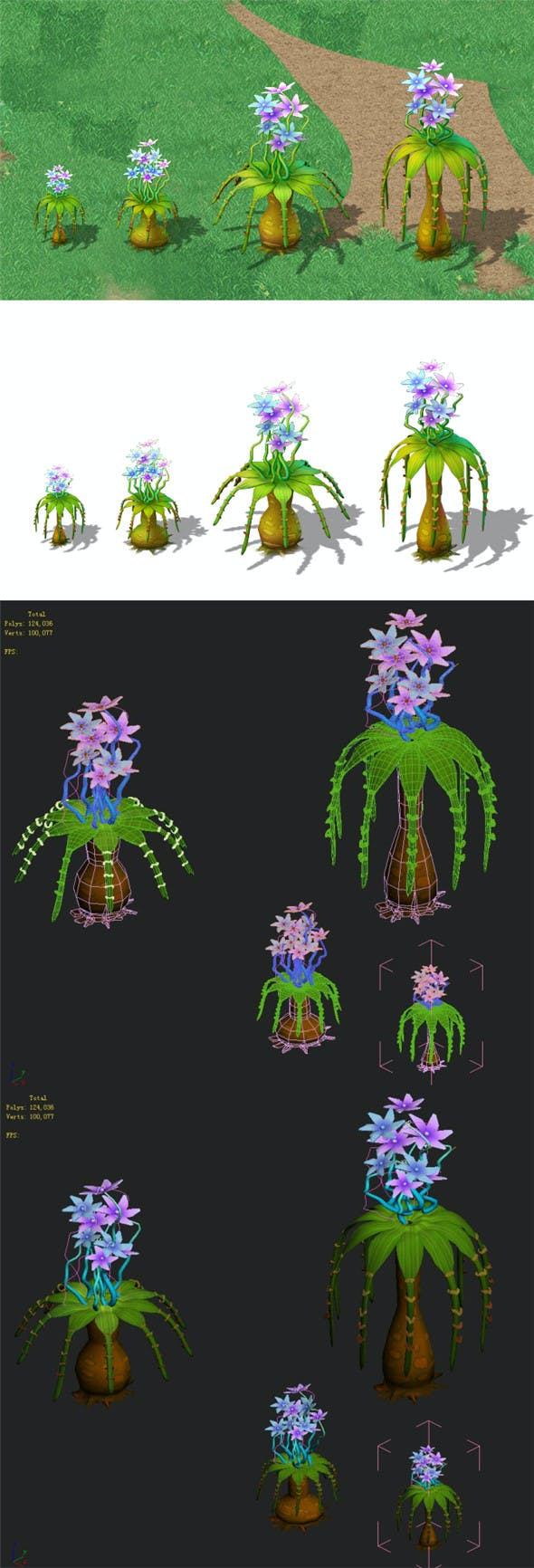 Cartoon version - braid flower - 3DOcean Item for Sale