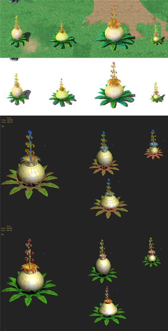 Cartoon version - flower belly flower - 3DOcean Item for Sale
