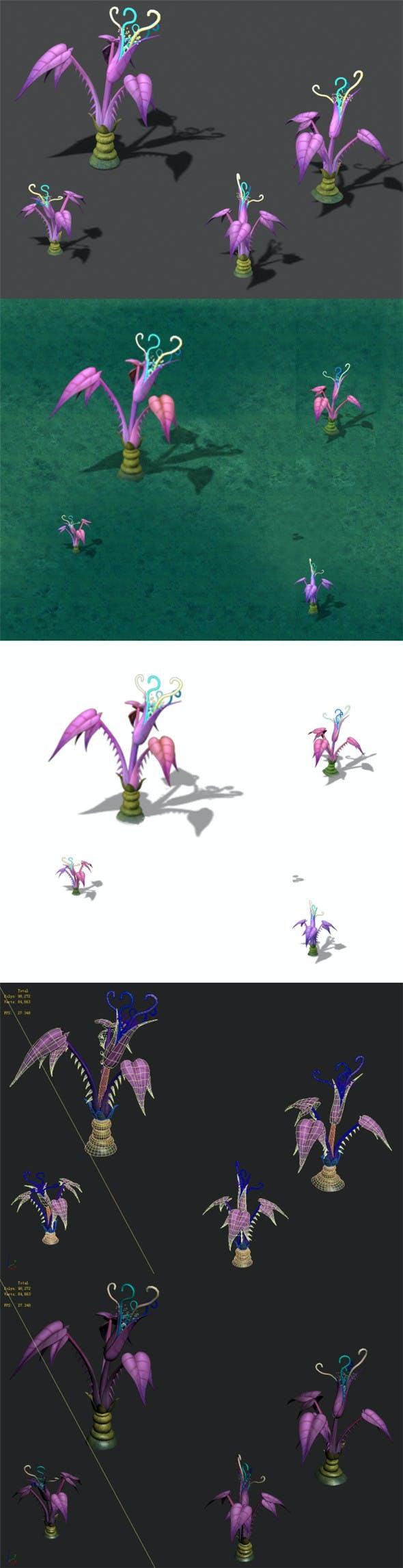 Cartoon version - abstinence purple - 3DOcean Item for Sale