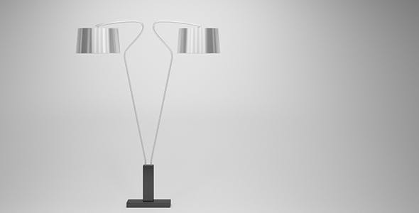 Modern Silver Floor Lamp - 3DOcean Item for Sale