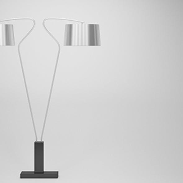 Modern Silver Floor Lamp