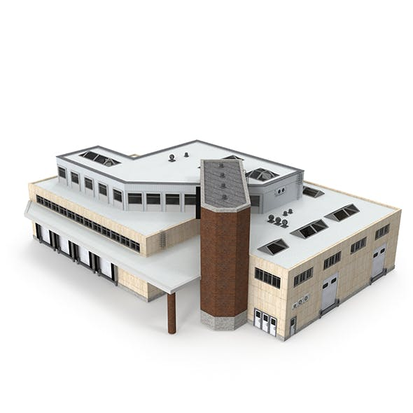 Cargo Building with Interior - 3DOcean Item for Sale