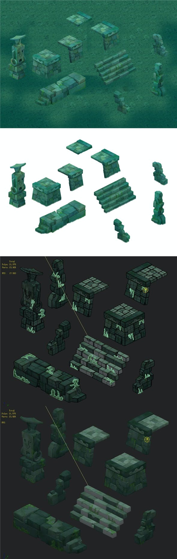 Cartoon version - Maya ruins - 3DOcean Item for Sale